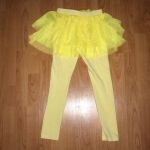 Walton Kid Korean Fashion Yellow Tutu soft pants
